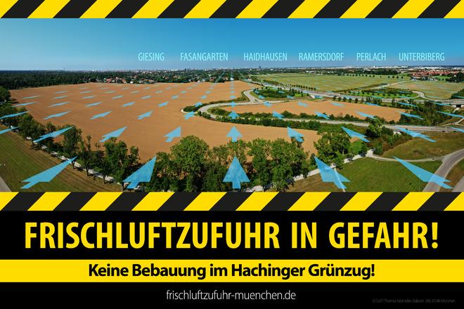 München erstickt! Frischluftschneise Hachinger Tal freihalten!