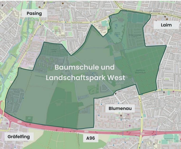 Süddeutsche vom 7. Juli 2021: Stadtplanung – Wie München bis 2040 aussehen könnte (Landschaftspark West)